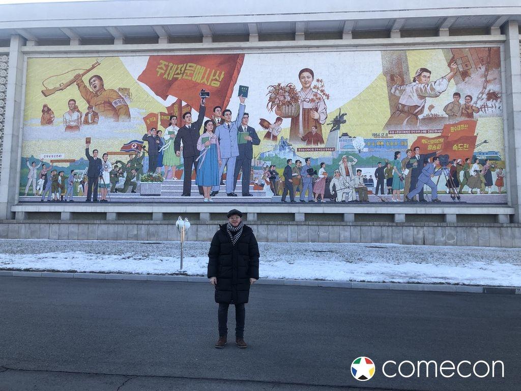 Murales cinema Nord Corea
