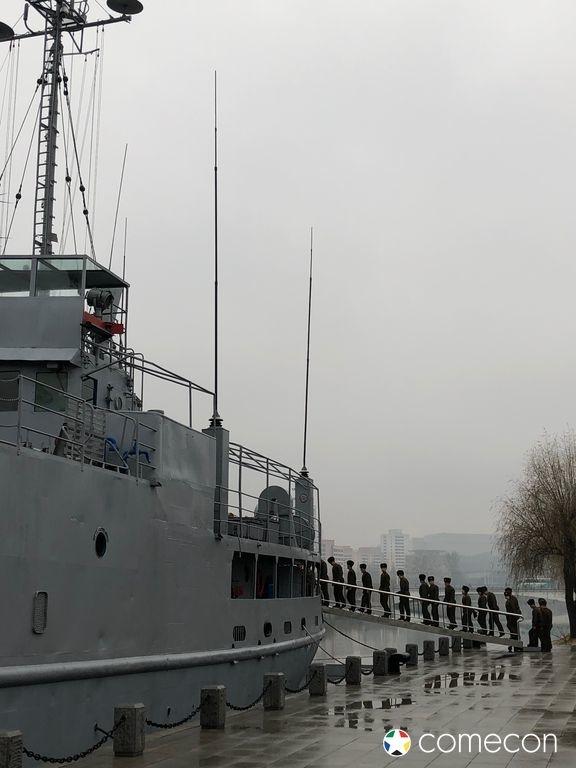 Pueblo nave da guerra Corea del Nord