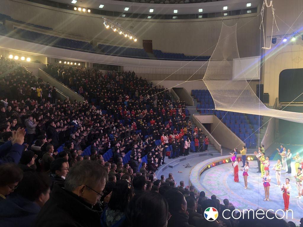 Spettacolo circo popolazione Nord Corea